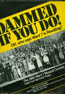 "Cover of playbill for ""Dammed If You Do!"""
