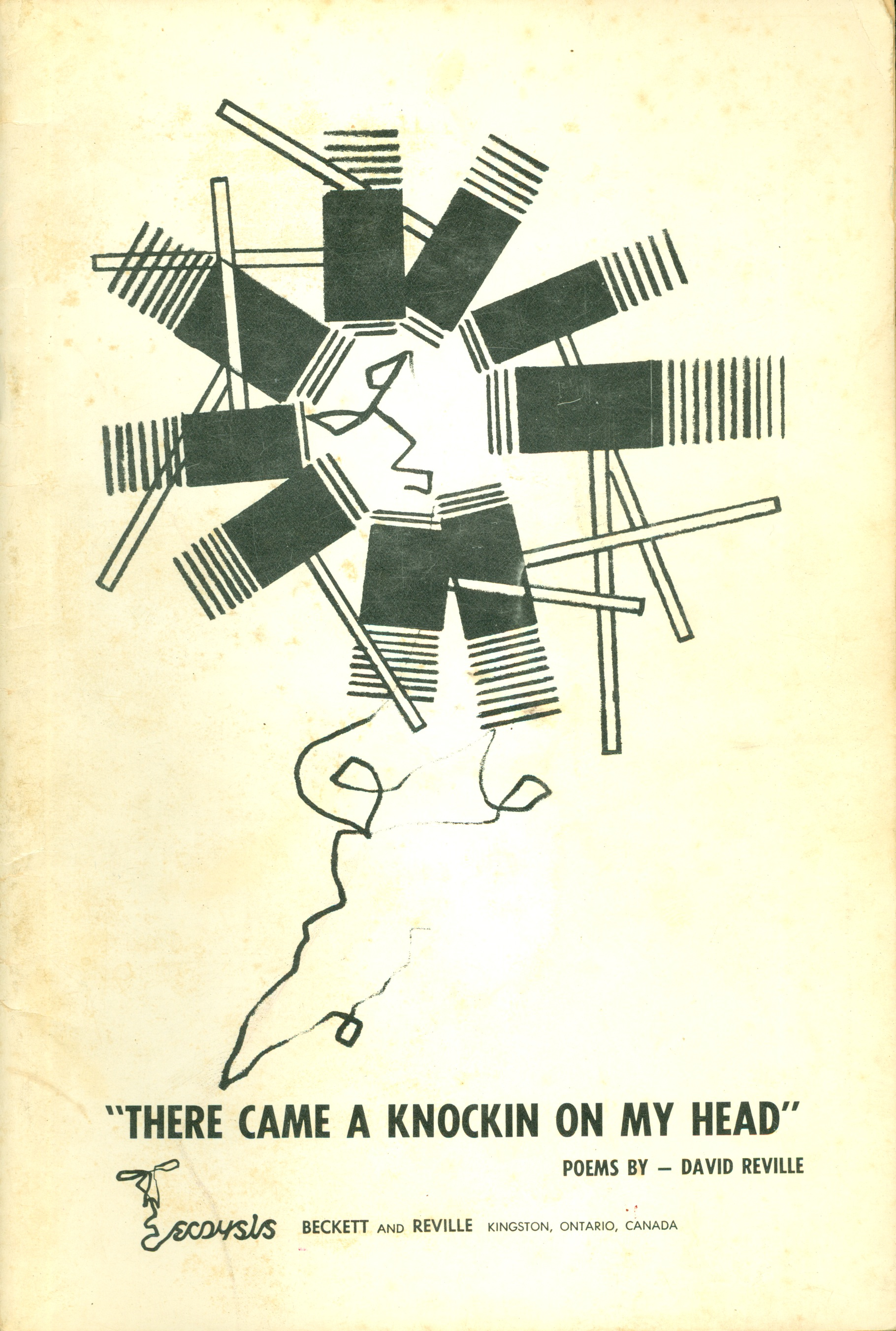 Graphic cover of poetry book with abstract pattern