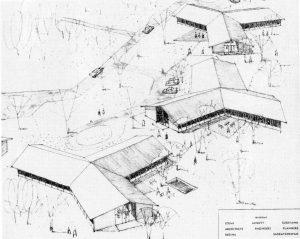dessin architectural de bâtiments résidentiels