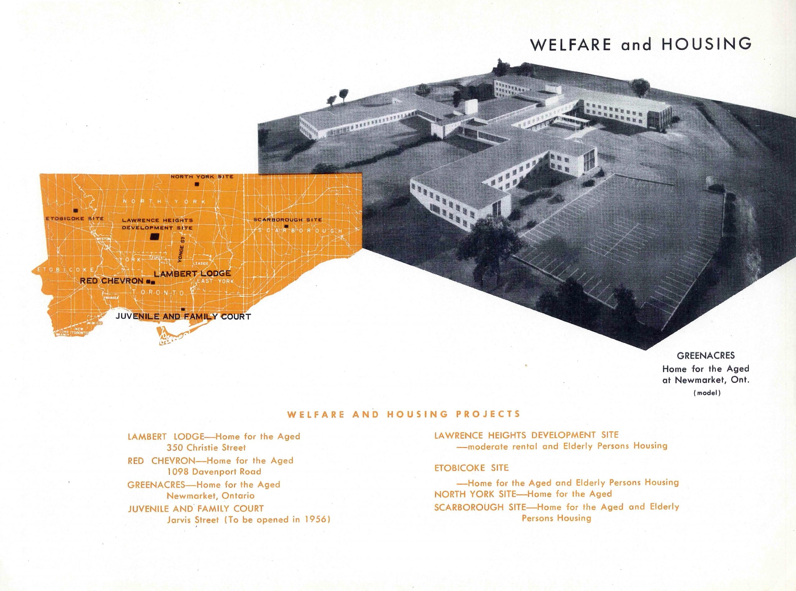 map of toronto and model of residential facility
